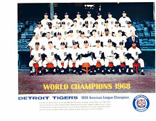DETROIT TIGERS WORLD SERIES 8X10 TEAM PHOTOS LOT OF 4 1968 1984 1945 1907 COBB