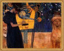 Die Musik I Musikerin Harfe Sphinx Instrument Saiten LW Gustav Klimt A2 021