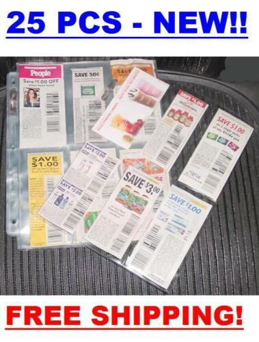 Inserts Coupon Sleeves Pages for Binder 6 Pockets NEW!! Organizer 20