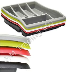 Plastic cutlery tray kitchen drawer organiser holder storage tidy - Standard Plastic Cutlery Drawer Holder Storage Rack Tray