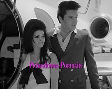 ELVIS & PRISCILLA PRESLEY 8X10 Lab Photo WEDDING DAY MAY 1, 1967 Bride & Groom 3