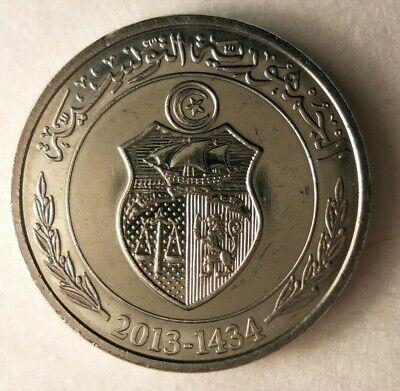 Hard to Find Coin 2013 TUNISIA 1//2 DINAR BARGAIN BIN #121 FREE SHIP