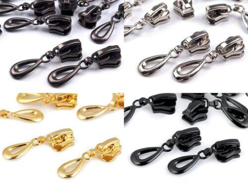 Zipper 5//10 St infinito perfil cremallera 5mm grob oro plata negro Dark F