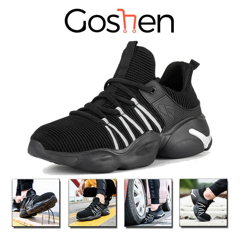Lightweight Mens Shoes Safety Trainers Women Steel Toe Cap Work Hiking Boots UK