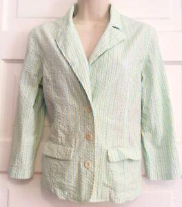 Lilly Pulitzer Womens Seersucker Blazer Size Small Light Jacket