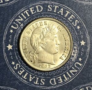 1913-Barber-Silver-Dime-Collector-Coin-For-Your-Set-Or-Collection