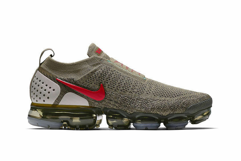 Nike Air VaporMax Moc 2 Neutral Olive Habanero Red Size 10.5. AH7006-200. 95 98