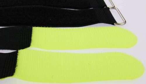 10 Kabelbinder Kabelklett 80 cm x 50 mm neon gelb Klettband Klettkabelbinder Öse