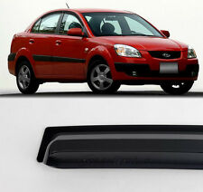 Smoke Sun Window Visor Vent Guard Wind Rain 4p For 2005-2011 Kia Rio Pride 4door