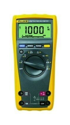 Fluke Multimeter Digital 0-1000V AC DC, 10A, LCD - 179