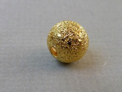 Stardust Metall Glitzerperle Krepp Perle Kugel 4 6 mm 50 St Auswahl 2614