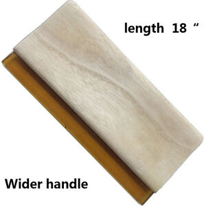 """1 pc Screen Printing 18"""" 45cm Oiliness Squeegee Wooden Handle Wide Ink Scraper"""