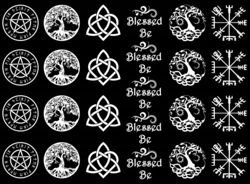 "Blessed Be 5/""X7/"" Card White Fused Glass Decals 17CC779"
