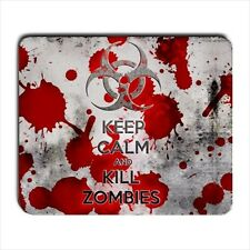 KEEP CALM AND KILL ZOMBIES MOUSEPAD mat - meme funny walking dead