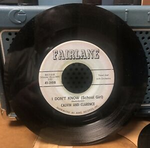 Rockabilly-CALVIN-AND-CLARENCE-on-The-Blue-FAIRLANE-RECORD-LABEL-Goodnight-VG