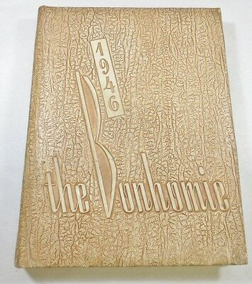 Vintage Class School College Yearbook 1946 The Bonhomie Furman University