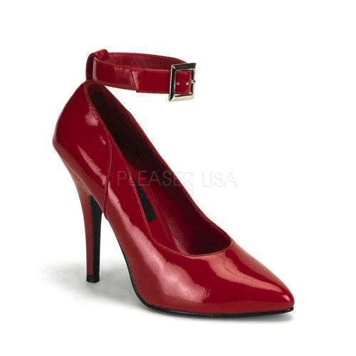 Pleaser Seduce - 431 Escarpins rouge verni Bottines-Strap soir Lolita Danse Gogo Sexy