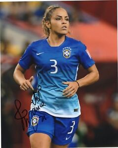 Monica-Hickmann-Alves-signed-8x10-Photo-w-COA-Brazil-Soccer-Madrid