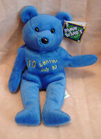 Bamm Beanos - 10 Gary Sheffield Teddy Bear Beanie - Blue
