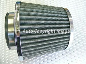 Universal Chrome Grey Cone Car Air Filter Induction Kit