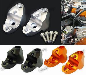 Handlebar Bar Riser Adapter Kit 30mm Up & 25mm Back For KTM 1290 Super Duke GT