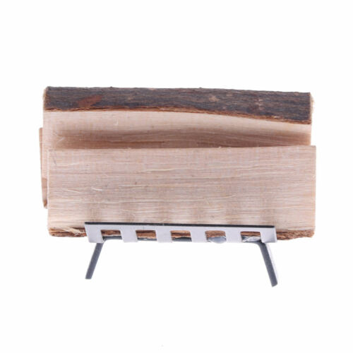 1//12 Dollhouse Furniture Metal Rack with Firewood for Living Room JB