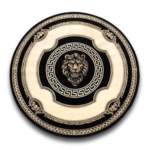 Teppich-mit-Versace-Muster-Rund-Schwarz-200x200-Seidig-Maeander-Medusa-Carpet-Rug