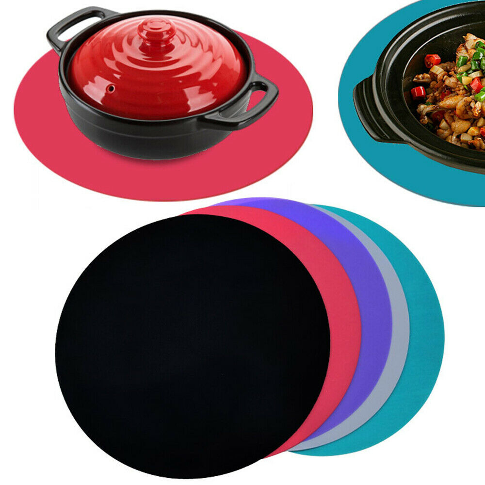 Reusable Protective Round Pad Induction Cooker Food Silicone Kitchen Heat Mat