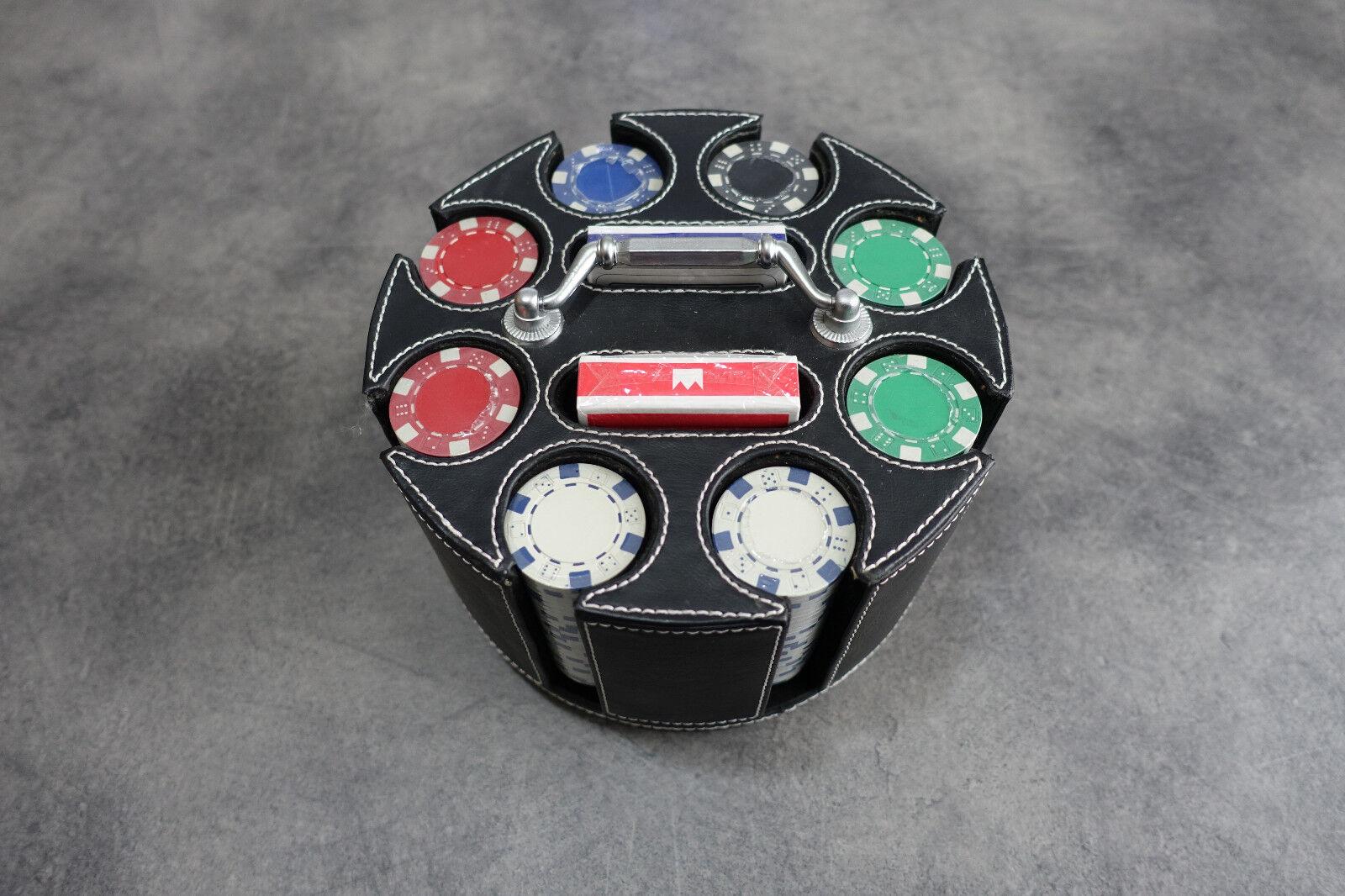 Juego set da Texas Poker 200 fiches pesanti 2 mazzi di carte plastificate