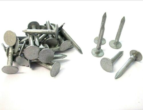 Roofing 13mm -/> 50mm Felt nails. Extra large head Galvanised clout nails