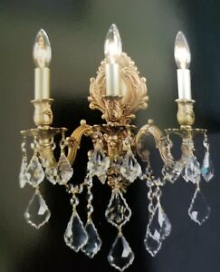 Gold Chandelier Wall Crystal Sconce