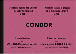 Condor-A-580-I-Bedienungsanleitung-Ersatzteilliste-Handbuch-Betriebsanleitung