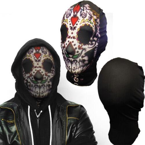 Lycra Spandex Zentai Costume Halloween Party Mask//Hood Open Face//Eyes//Full Hood