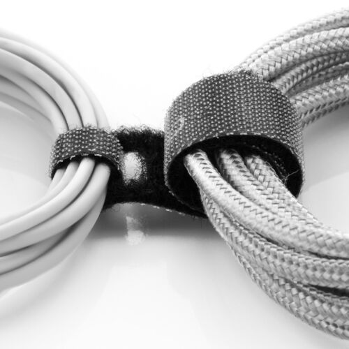 deleyCON 100x Klett Kabelbinder Kabel Band Klettband Klettbinder Klettverschluss