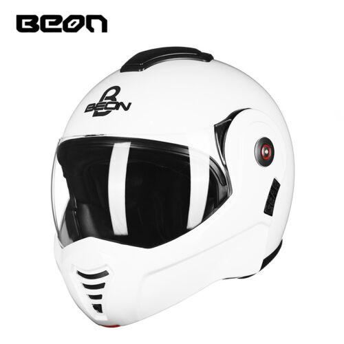 BEON Full Face Motocross Helmet 2 Lens Flip Up Motorcycle Off-Road Helmets T-702