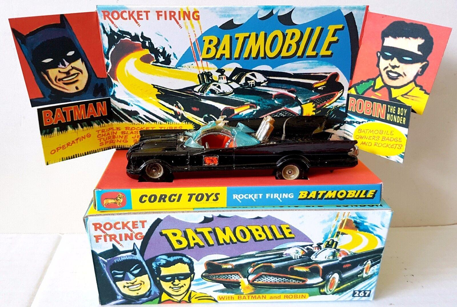 Corgi spielzeug batman 267 batmobil ein diecast modell auto & repro - box sockel + extras [i