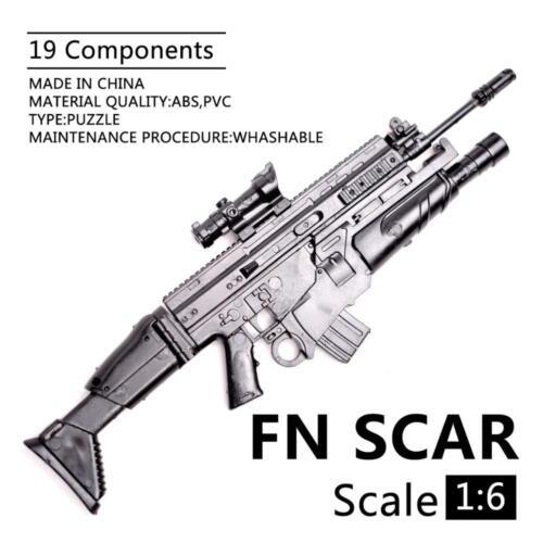 "8Pcs Set 1//6 Scale MSR M1 SCAR MG62 AK74 Weapon Rifle Gun For 12/"" Action Figures"