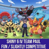 Pokemon Guide - Shiny / 6iv Perfect Pokemon Trainer Paul's Team + (bonus)