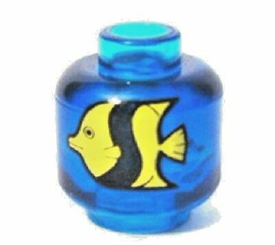 NEW Lego Minifig sized Fish Tank AQUARIUM w//Yellow /& Black Fish Minifigure Pet