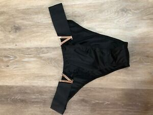 NWT-Victoria-Secret-Black-Medium-V-Brazilian-Panties