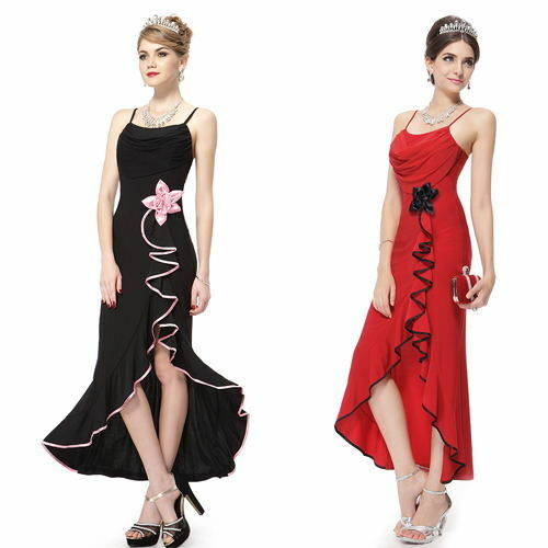 Ever Pretty Sexy Slitted Long Formal Gown Evening Cocktail Black New Dress 80679