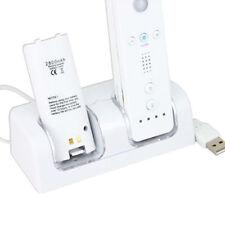 Set 2 paquetes de baterías & Wii Controller Dock Dual Carga Estación De Carga Baterías