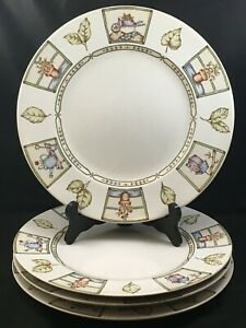 Set-of-4-Coventry-COUNTRY-GARDEN-10-3-4-034-Dinner-Plates