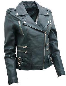 Ladies-Teal-Real-100-Lamb-Nappa-Leather-Biker-Jacket