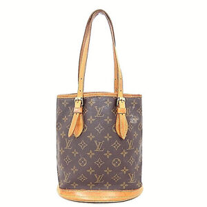authentic louis vuitton monogram canvas petit bucket tote bag france m42238 c ebay. Black Bedroom Furniture Sets. Home Design Ideas