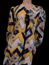 PUR VINTAGE  70 ROBE LONGUE NYLON HIPPIE  / 42/44 BOHO   DRESS