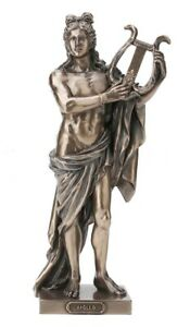 10 Greek God Apollo Holding Lyre Statue Mythology Figurine Figure Sculpture Ebay