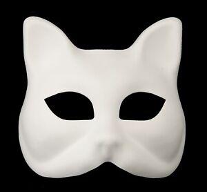 Maschera-Di-Venezia-Bianco-Per-Vernice-Gatto-Bambino-Carnevale-1085