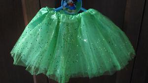 Tutu-elastico-brillante-Verde-para-ninas-fiesta-disfraz-Ballet-danza-22-36-cms
