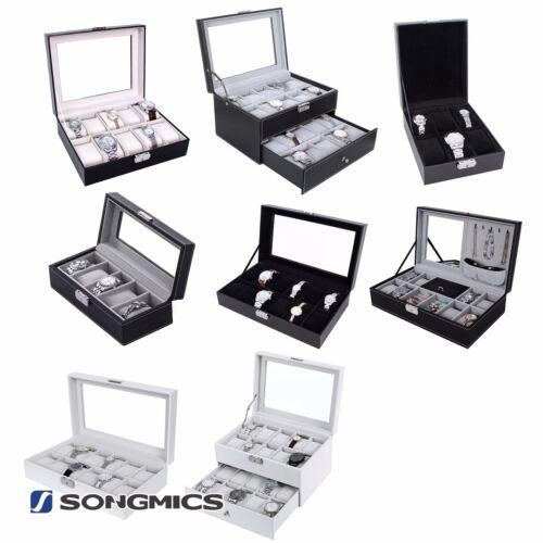 Uhrenbox für 5/610/12/20 Uhren Uhrenkoffer Uhrentruhe Uhrenkasten Uhrenschatulle